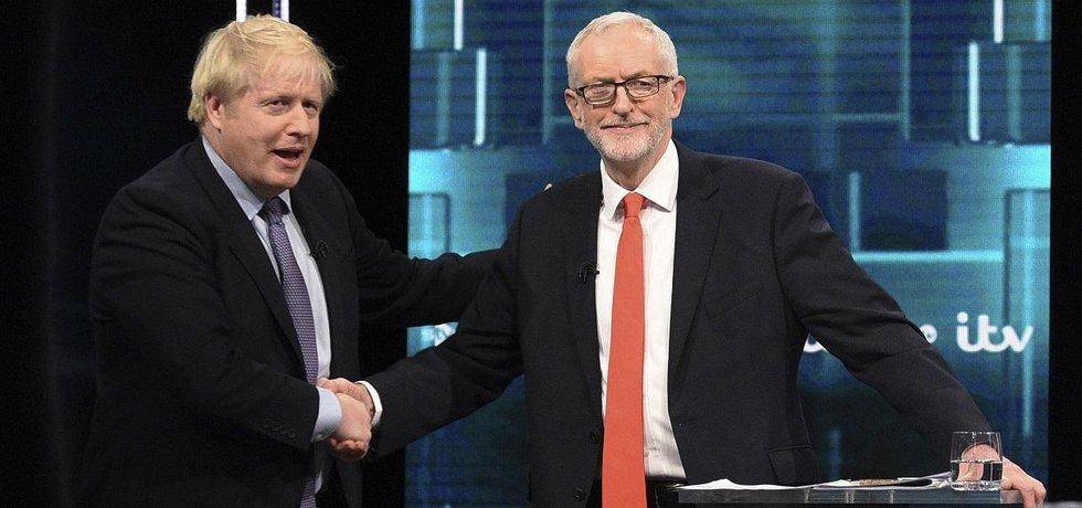 Boris Johnson a Jeremy Corbyn