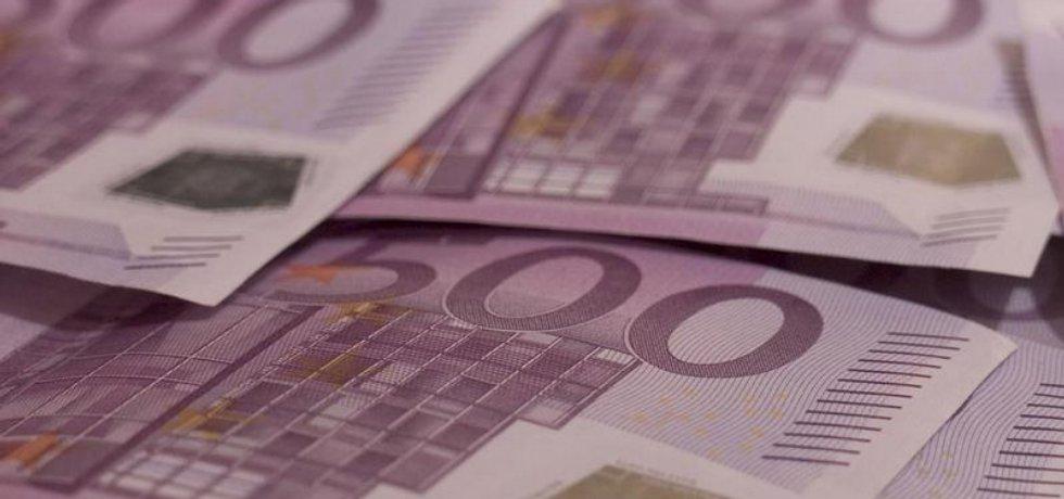 Bankovky v hodnotě 500 euro