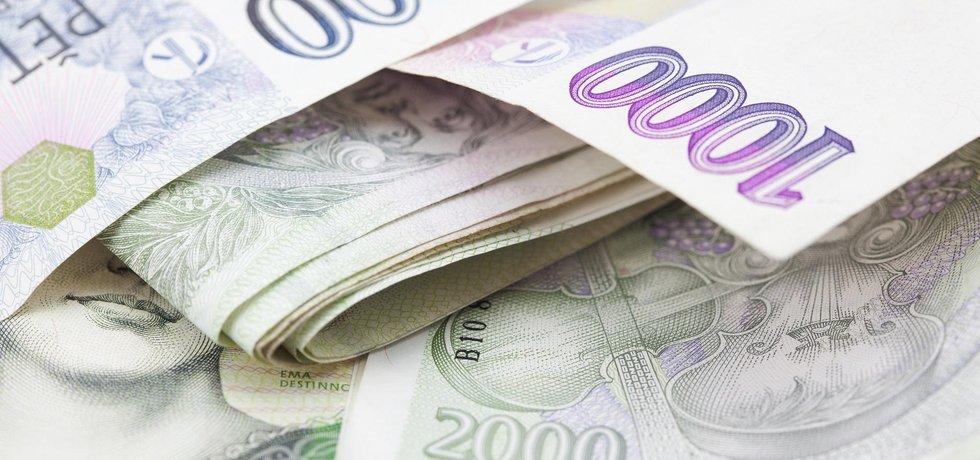 České bankovky - ilustrační fotografie