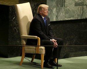 Americký prezident Donald Trump před svým projevem před Valným shromážděním OSN