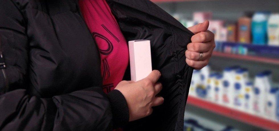 Krádež v obchodě, ilustrační foto