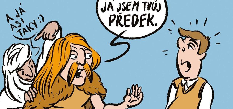 Ilustrace k eseji Česká genetická směska