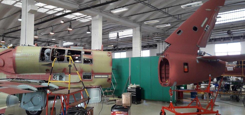Výroba v Aeru Vodochody