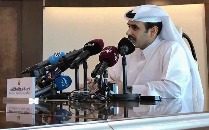 Katarský ministr energetiky Saad Kaabí oznamuje, že země odejde z kartelu OPEC