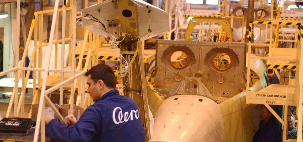 Výroba letadel ve společnosti Aero Vodochody, ilustrační foto
