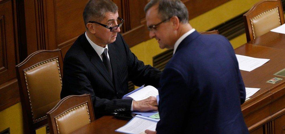 Andrej Babiš a Miroslav Kalousek