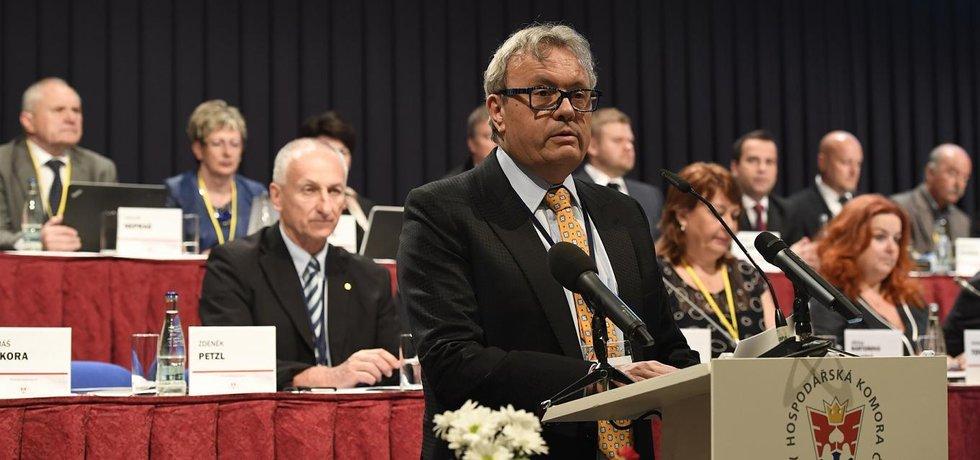 Předseda Hospodářské komory ČR Vladimír Dlouhý