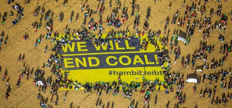 Protest proti těžbě uhlí v Německu, ilustrační foto
