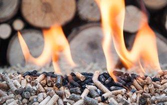 Spalování biomasy, ilustrační foto