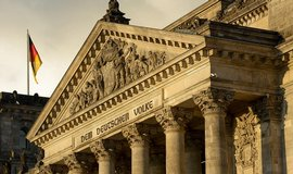 Detail Říšského sněmu v Berlíně
