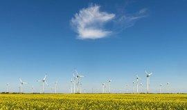 Větrné turbíny, ilustrační foto