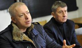 Zprava: Andrej Babiš (ANO) a Milan Chovanec (ČSSD)