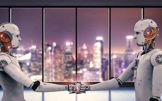 Roboti v kanceláři, ilustrační foto