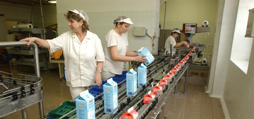 Mlékárna holdingu Agrofert, ilustrační foto