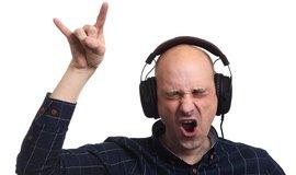 Poslech hudby, ilustrační foto