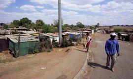 Slum v Johannesburgu, ilustrační foto