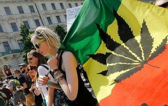 Pražský pochod za legalizaci konopí Million Marihuana March
