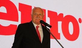 Václav Klaus na 18. narozeninách týdeníku Euro