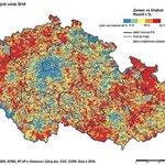 Geografická podpora Miloše Zemana a Jiřího Drahoše v prvním kole prezidentských voleb