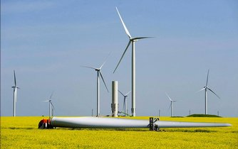 Rumunský větrný park Fantanele Cogealac, který má výkon 600 megawattů.