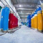 Úložiště jaderného odpadu v německém Lubminu. Prázdné kontejnery.