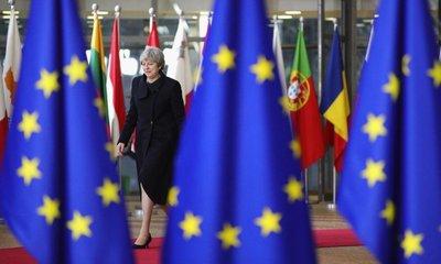 Theresa Mayová na summitu EU v Londýně