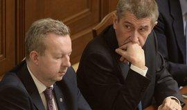 První místopředseda vlády a ministr životního prostředí Richard Brabec a premiér Andrej Babiš