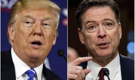 Americký prezident Donald Trump a bývalý šéf FBI James Comey