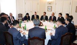 Schůzka prezidenta Miloše Zemana s delegací CITIC Group na Pražském hradě