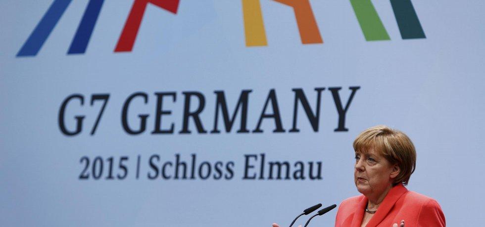 Německá kancléřka Angela Merkelová na Summitu G7