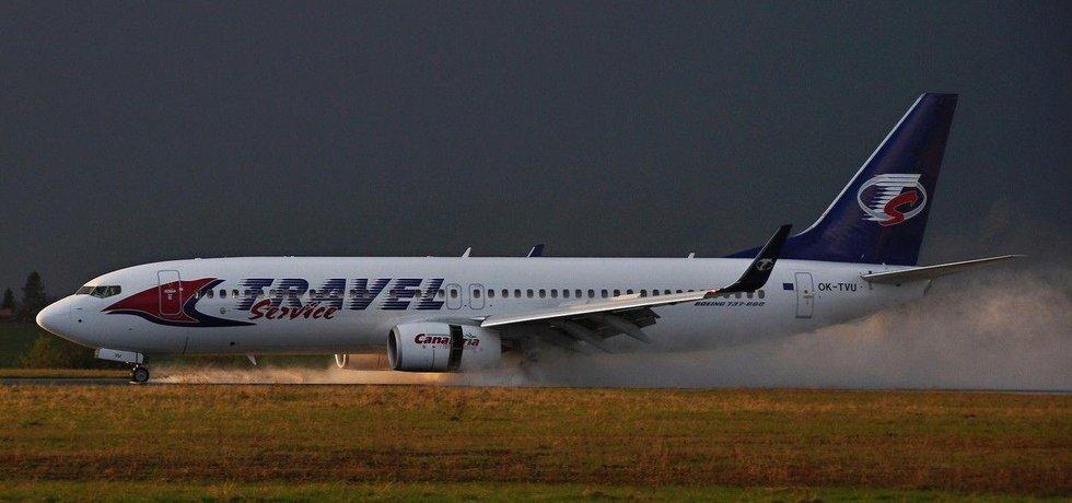 Přistání letadla Travel Service