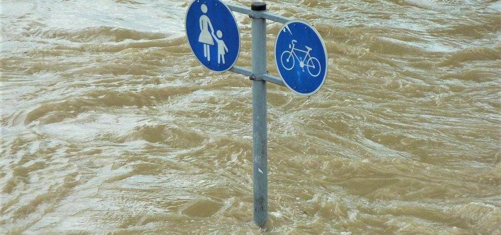 Povodeň, ilustrační foto