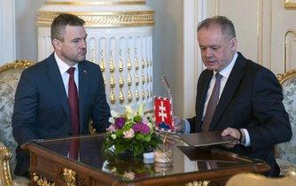 Kandidát na slovenského premiéra Peter Pellegrini a prezident Andrej Kiska