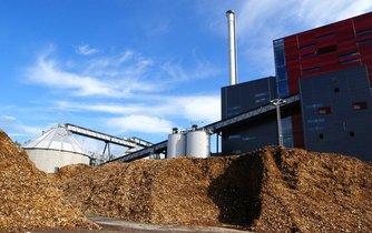 Elektrárna na biomasu, ilustrační foto