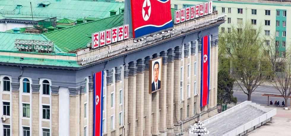 Vládní budova v severokorejském Pchjong Jangu