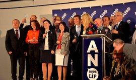Vedení ANO 2011 slaví volební úspěch