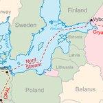 Trasa plynovodu OPAL, který se napojuje na Nord Stream