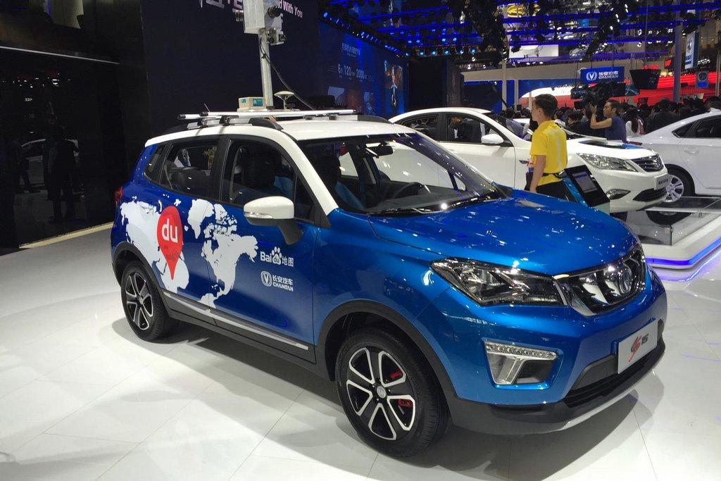 """Vůz velké automobilky Changan, který slouží k vytváření internetových map. V Číně je zakázaný Google, takže pro svojí oblíbenou """"street view"""" mapu musíte na sociální síť Baidu."""