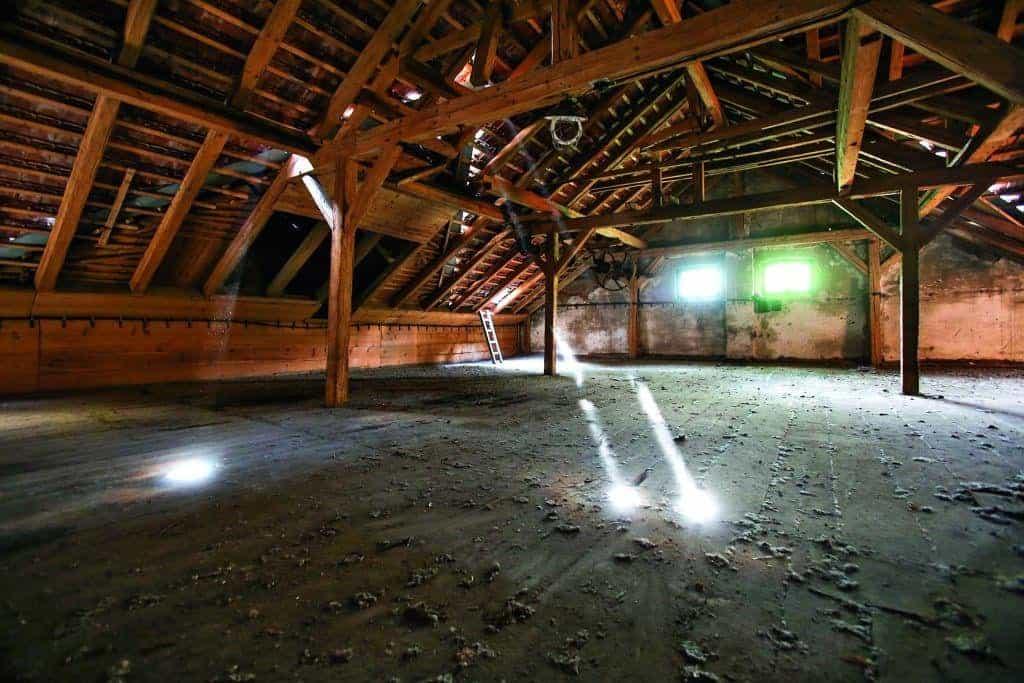 Bývalé sušárny ječmene na půdě nuselského pivovaru