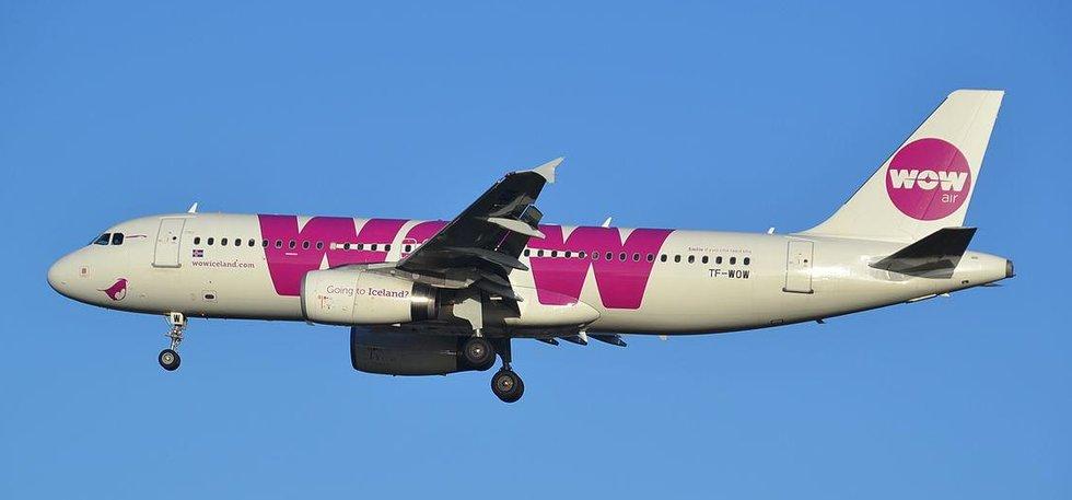 Airbus A320 společnosti WOW Air (Autor: Alex Wilson, CC BY 2.0, Wikimedia Commons)