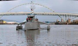 """Sea Hunter, autonomní torpédoborec americké armády. I takto """"tradičně"""" může vypadat prototyp robotického zabijáka."""