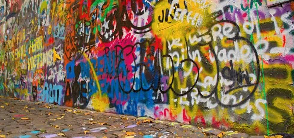 Graffiti v Praze - ilustrační foto