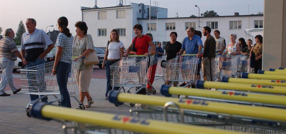 Supermarket Lidl, archivní foto