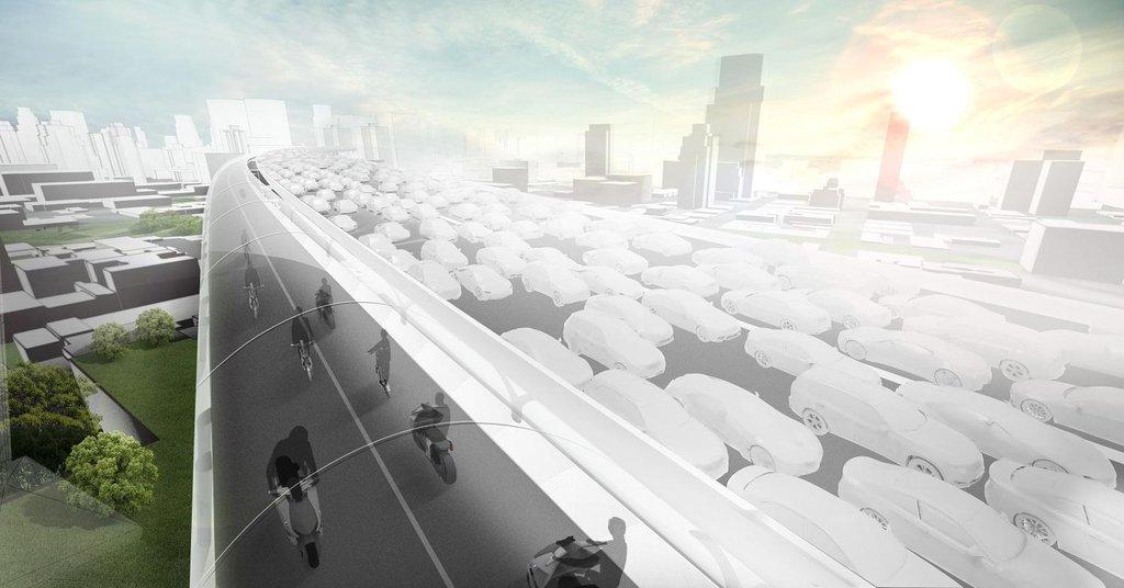 Rychlejší než stání v dopravní koloně. Projekt BMW Vision E³ Way pro velká města.