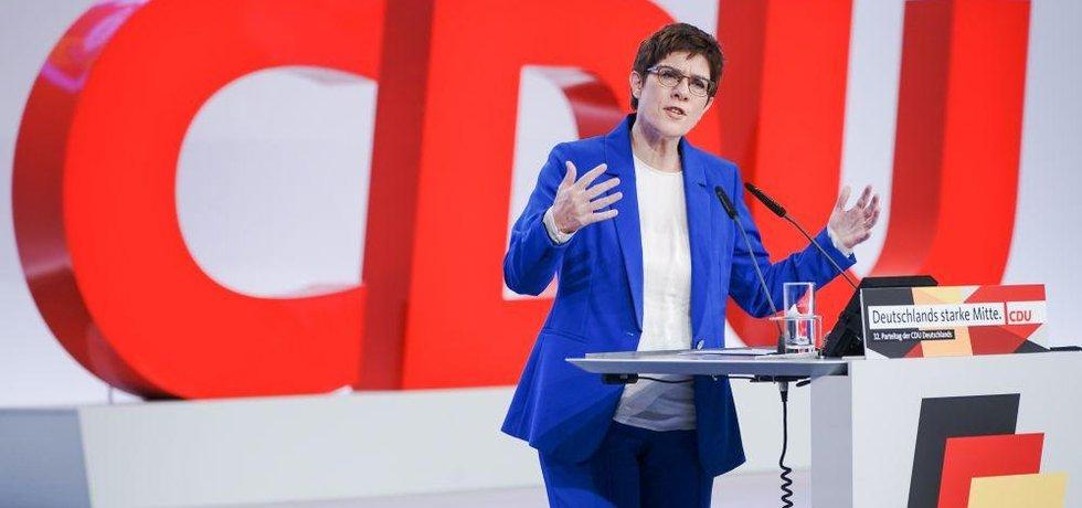 Předsedkyně německých křesťanských demokratů (CDU) Annegret Krampová-Karrenbauerová