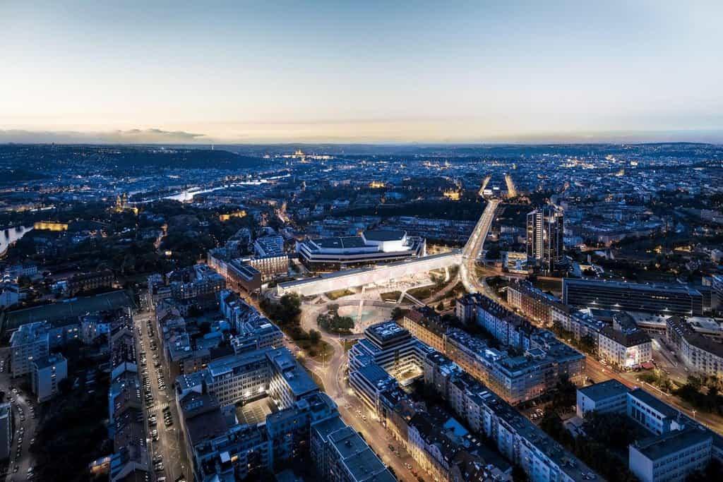 Předmětem soutěže byla dostavba nové výstavní haly pro Kongresové centrum Praha