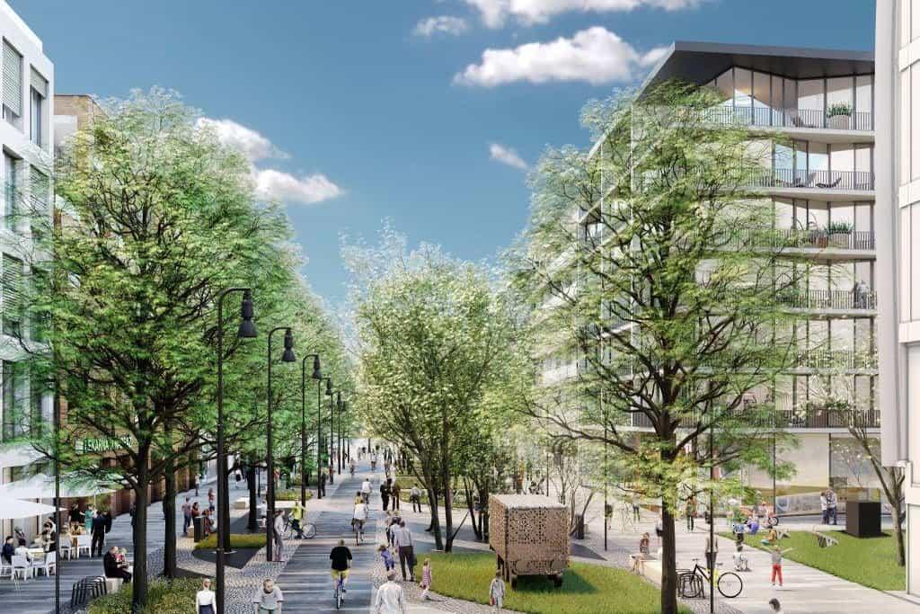 Investiční náklady nové smíchovské čtvrti dosahují asi 15 miliard korun