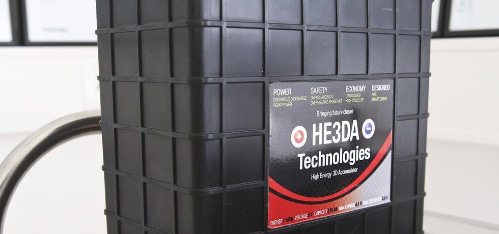 Made in Czech Republic. S tímto výrobkem chtějí manažeři a vlastníci české společnosti HE3DA vzít útokem světový trh s velkokapacitními bateriemi