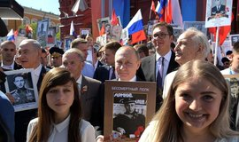 Vladimir Putin během oslav Dne vítězství v Moskvě 9. 5. 2018