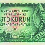 1961. Naše nejdéle obíhající bankovka, 100 Kčs, autor František Heřman.